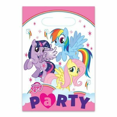 8pk My Little Pony Loot Bags Birthday Children's Party Plastic Favour Gift