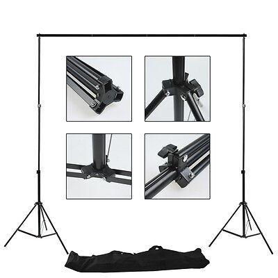 2x3m Photography Studio Background Lighting Stand Backdrop Support with Bag Kit