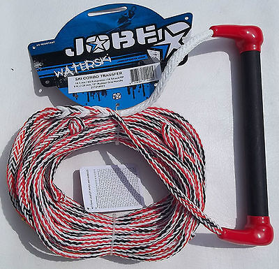 Jobe Waterski Wakeboard Combo Transfer Tow Rope & Handle 18 Metres