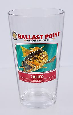 NEW Ballast Point Calico Amber Ale Beer Pint Glass Bar Pub Man Cave Tavern