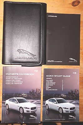 JAGUAR XE OWNERS HANDBOOK AND WALLET  years LATE 2014-2015-2016  (MY REF 7319)
