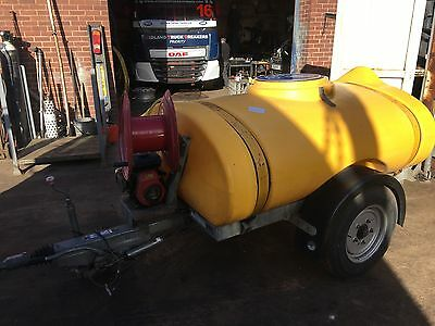 Western Trailers water bowser trailer With Pump And Engine