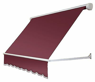 Awntech 4Ft Mesa Window Retractable Awning, 24in H x 24in D, Burgundy