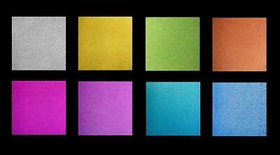 Pack of 5 Sheets Super Smooth Fixed Glitter Card (Various Colours Available)