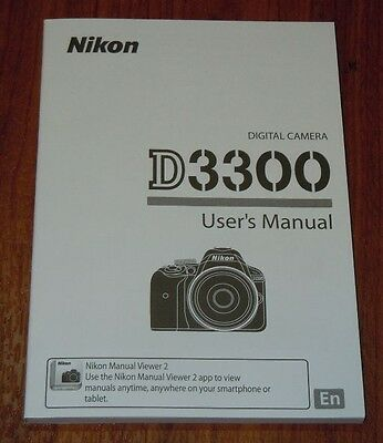 Nikon D3300 Digital Camera User's Manual Guide Book Brand New. Never Used