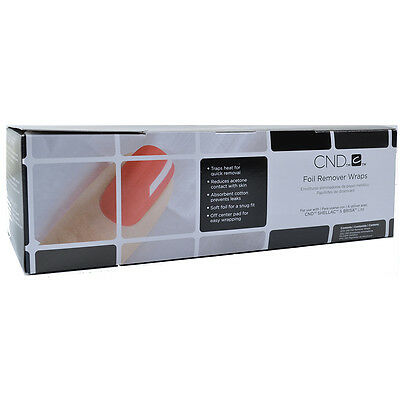 CND Foil Remover Wraps 10pk or 250pk Fast Same Day Shipping!