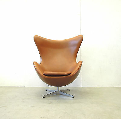 Egg Chair Cognac.Orig Arne Jacobsen Egg Chair Cognac Elegance Leder Fritz