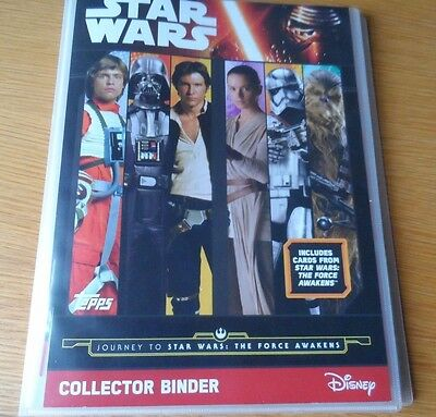 TOPPS STAR WARS The Force Awakens 207 cards Full Set + binder+LTD luke skywalker