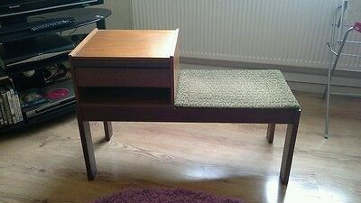 Vintage Shic Retro Original Chippy Telephone Table With Seat