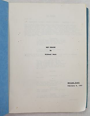 Red Dragon by Michael Mann Vintage Production Movie Script