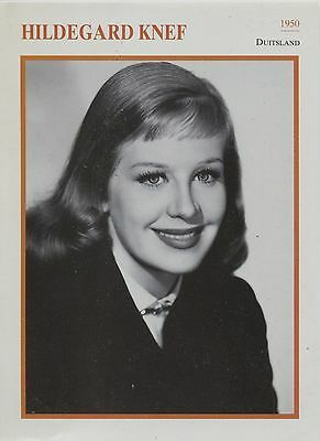Hildegard Knef - German Actress Film/Movie/Cinema Trading Card