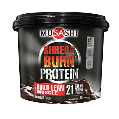 NEW Musashi SHRED AND BURN Protein Powder 1.6kg