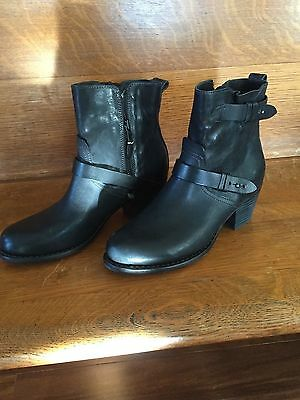 New Rag & Bone Leather Harper Moto Boots 39.5