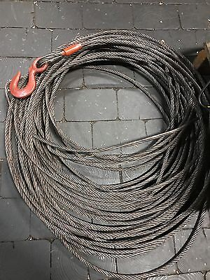 "winch cable 150' of 21/64"" with hook (new in box)"