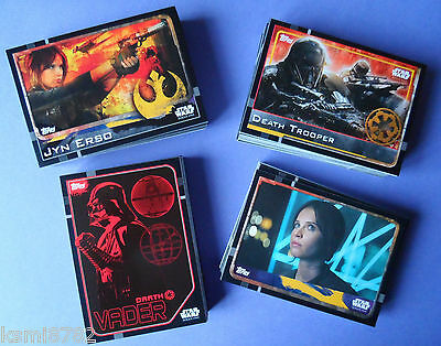 TOPPS STAR WARS ROGUE ONE base set 160 cards 1-160.