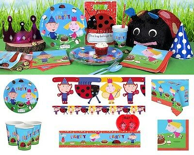 Ben And Holly Birthday Party Ladybird Tableware Supplies Decorations