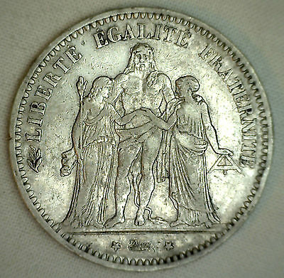 1873 A France 5 Francs KM# 820.1 XF Silver World Coin #2 #P