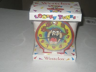 Westclox 1994 Looney Tunes Taz Tasmanian Devil Alarm Clock Mint Sealed