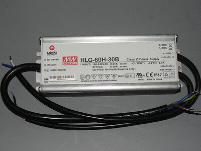 Driver Mean Well HLG-60H-30B, 30V 2A 60W 120-277V,Dimm.