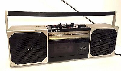 Vintage Sony CFS-300 Boom Box AM FM Radio & Cassette Player Stereo Boombox