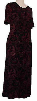 NWT Women's Printed Short Sleeve Maxi Dresses For Casual Travel Made In USA