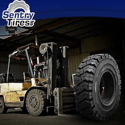 250-15 Sentry Tire Solid Forklift Tires (1 Tire) K Pattern for 7.00 Rim Width