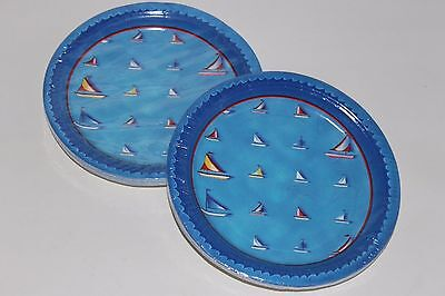 Set Of 2 Packs Party House Sailboat Paper Plates 7 Inch 16/pk New