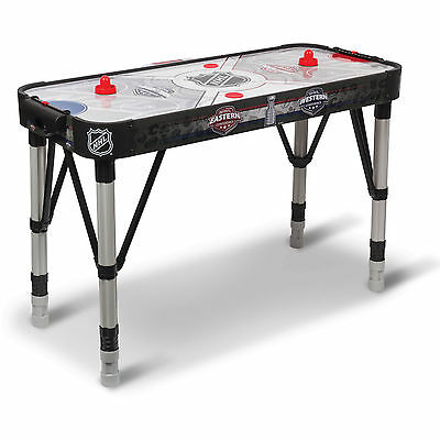 NHL Air Powered Hockey Table 54 Inch Adjust and Store Hover W/ 2 Pucks & Pushers