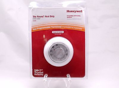 Honeywell The Round HEAT ONLY Thermostat CT87K Non Programmable White