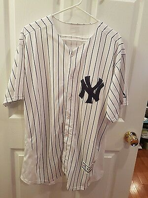 New York Yankees flexbase Jersey  no name number pinstripes extra large Jersey