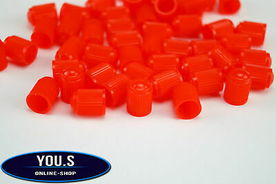 4 x red Plastic Rubber Caps Valve Caps For Cars PKW Motorcycle - NEW