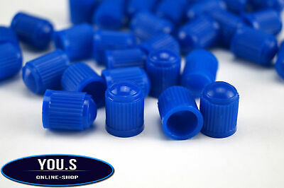 4 Pcs Rubber Caps Valve caps in blue for Cars car truck motorcycle