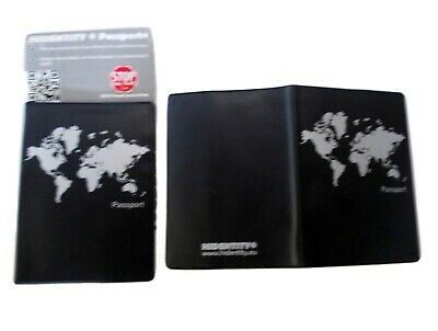 2 X Hidentity Duo Fraud RFID Protection Cover-PASSPORT COVER-Fits 2 ID Cards-NEW