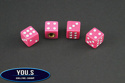4 Pcs Pink Dice valve cap for cars trucks Motorcycle - NEW