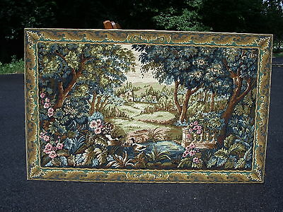 Tapestry Picture Wool Needlepoint Verdure Aux Canards Margot France X-Large
