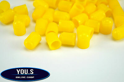 8 Pieces yellow Rubber Caps valve cap for cars trucks Motorcycle - NEW
