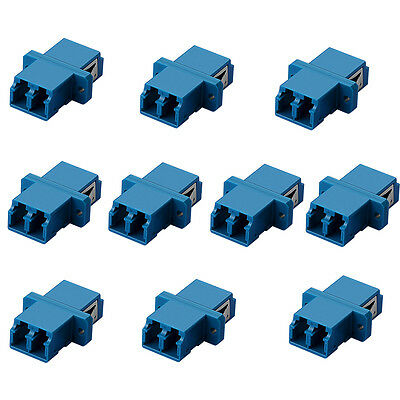 10x LC-LC Duplex Optical Fiber Optic Cable Coupler Adapter Female Connector