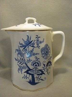 1890-1905 Knowles, Taylor & Knowles Blue & White Pitcher With Lid
