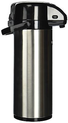 Winco Stainless Steel Lined Airpot, 3-Liter, Lever Top