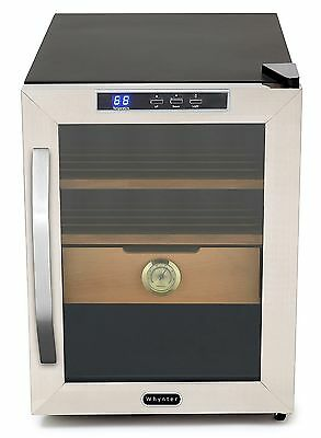 Whynter CHC-120S Stainless Steel Cigar Cooler Humidor, 1.2 Cubic Feet