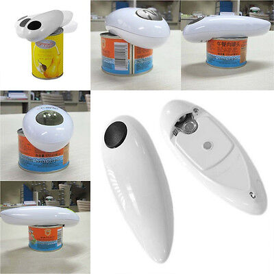One Touch Automatic Electric Tin Can Opener Bottle Tin Can Open Tool Kitchen EJJ