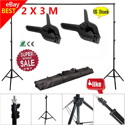 10Ft Adjustable Background Support Stand Photo Backdrop Crossbar PhotograpEO
