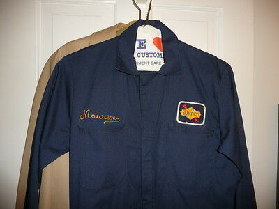 Vintage SUNOCO Mechanic's Overalls Coveralls Work UNIFORM Navy Blue 38R NICE!