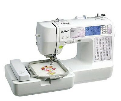 Sewing Machine Computerized Embroidery Machine USB Port Craft Serger Combo Gift