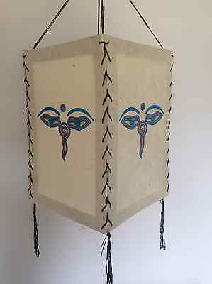 "Handmade ""Lokta Paper"" Lampshades in Various Colours and Designs Home Decor"