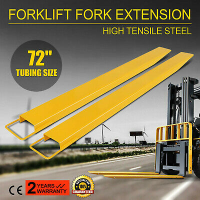 "72 x 5.5"" Forklift Pallet Fork Extensions Pair Lift Truck Lifting Industrial"
