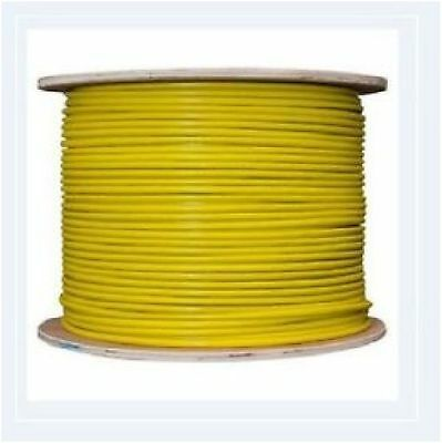 Tri-rated Panel & Conduit Cable 0.5mm² 22AWG 11Amp 600V Yellow