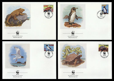 Ecuador Galapagos - in the. no. 2207-12 WWF FDC First day covers