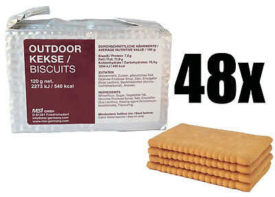 SURVIVOR Outdoor Biscuits, Notrationen, Notverpflegung, Outdoor-Kekse, 48x125g