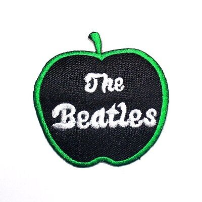 The Beatles Rock Music band Black Apple Embroidered T-Shirt Applique Iron Patch